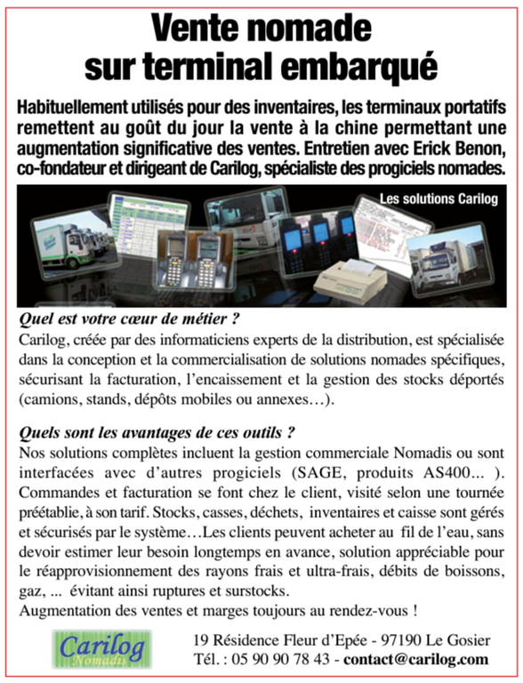 Article magazine ENTREPRENDRE Avril 2013